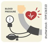 blood pressure measurement... | Shutterstock .eps vector #549136510