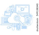 cloud computing service and... | Shutterstock .eps vector #549138340