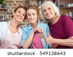 happy family of three... | Shutterstock . vector #549138643