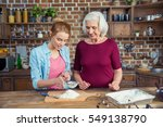 grandmother and granddaughter... | Shutterstock . vector #549138790