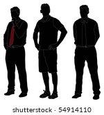 series of men standing in... | Shutterstock .eps vector #54914110