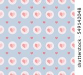 seamless pattern with hearts on ... | Shutterstock .eps vector #549142048