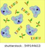 koala print | Shutterstock . vector #549144613