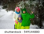 Mother With Two Sons On Walk I...
