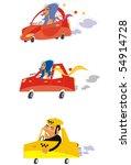 vector illustration of cartoon... | Shutterstock .eps vector #54914728
