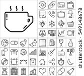 set of universal icons.... | Shutterstock .eps vector #549148678