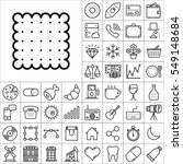 set of universal icons.... | Shutterstock .eps vector #549148684