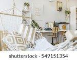 modern hammock at living room... | Shutterstock . vector #549151354