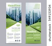greenery roll up layout... | Shutterstock .eps vector #549153934