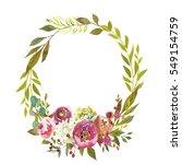 pastel watercolour floral... | Shutterstock . vector #549154759