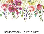pastel colors watercolour... | Shutterstock . vector #549154894