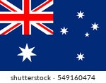 australia flag. official colors ... | Shutterstock .eps vector #549160474
