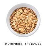 bowl of muesli isolated on... | Shutterstock . vector #549164788