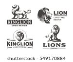 lion logo set   vector...