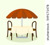 umbrella and furniture isolated ... | Shutterstock .eps vector #549171478