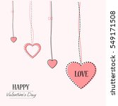 valentines day card template.... | Shutterstock .eps vector #549171508