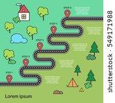 five steps zig zag asphalt ... | Shutterstock .eps vector #549171988