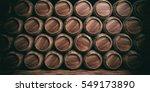 wine  beer barrels stacked full ...
