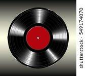 blank vinyl record  vector... | Shutterstock .eps vector #549174070