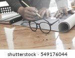 engineers with the project... | Shutterstock . vector #549176044
