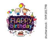 poster for the birthday...   Shutterstock .eps vector #549181798