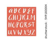 unique vector alphabet. modern... | Shutterstock .eps vector #549183004