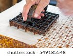 printing on the fabric to make... | Shutterstock . vector #549185548
