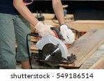 a thai girl carpenter is using ... | Shutterstock . vector #549186514