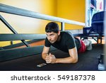 fitness man doing exercise...   Shutterstock . vector #549187378