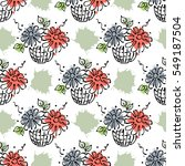 vector seamless floral pattern... | Shutterstock .eps vector #549187504