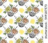 vector seamless floral pattern...   Shutterstock .eps vector #549187573