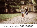 mom and daughter playing in... | Shutterstock . vector #549188980