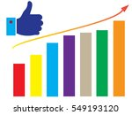 thumb up vector icon. multi... | Shutterstock .eps vector #549193120