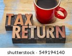tax return   word abstract in... | Shutterstock . vector #549194140