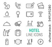 hotel icons set. vector flat... | Shutterstock .eps vector #549195280