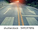 two way traffic signs painted...   Shutterstock . vector #549197896