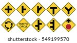 road signs in the united states.... | Shutterstock .eps vector #549199570