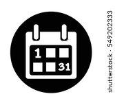 calendar icon   Shutterstock .eps vector #549202333