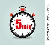 illustration of five minutes...   Shutterstock .eps vector #549204418