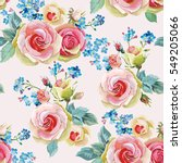 English Roses Seamless Pattern...
