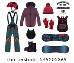 snowboard with strap in...   Shutterstock .eps vector #549205369