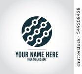 social relationship logo and... | Shutterstock .eps vector #549208438