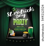 saint patricks day party poster ... | Shutterstock .eps vector #549212524