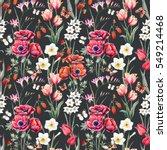 watercolor botanical spring... | Shutterstock . vector #549214468