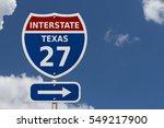 usa interstate 27 highway sign  ...   Shutterstock . vector #549217900