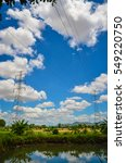 high voltage transmission line   | Shutterstock . vector #549220750