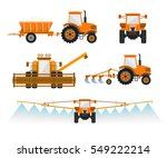 set of vector agricultural... | Shutterstock .eps vector #549222214