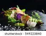 haute cuisine  gourmet food... | Shutterstock . vector #549223840