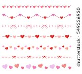 heart and ribbon decorative... | Shutterstock .eps vector #549226930