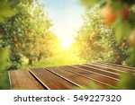 wooden table place of free... | Shutterstock . vector #549227320